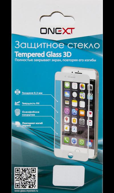 One-XT Защитное стекло One-XT 3D для Apple iPhone 7/8 (закругленное) аксессуар защитное стекло onext 3d для apple iphone 7 red 41325