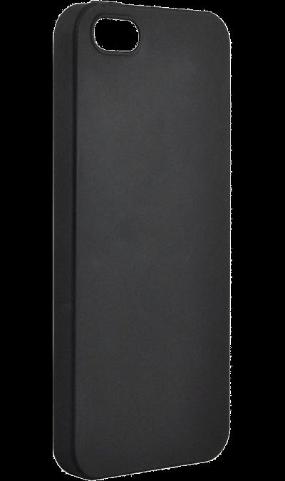Чехол-крышка New Level Rubber для Apple iPhone 5/5s, пластик, черный