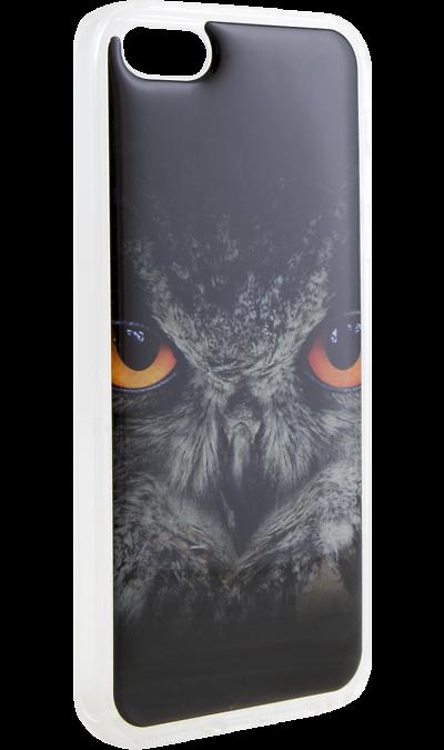 Ice Twice Чехол-крышка Ice Twice для Apple iPhone 5/5s, силикон, сова чехол для iphone 5 глянцевый с полной запечаткой printio ember spirit dota 2