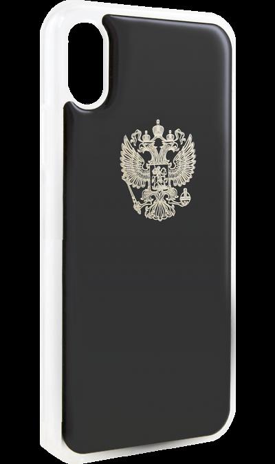 Ice Twice Чехол-крышка Ice Twice 402 для Apple iPhone X, силикон, Золотой герб iceberg twice
