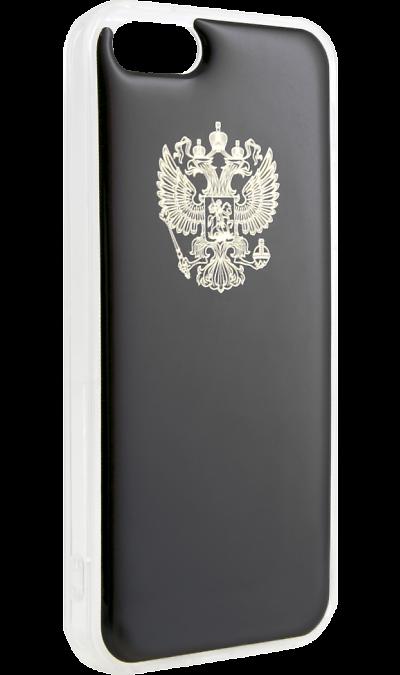 "Ice Twice Чехол-крышка Ice Twice 402 для Apple iPhone 5, силикон, ""Золотой герб"""