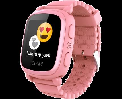 Купить Часы-телефон Elari детские KidPhone 2 GPS (розовые) по ... 2259abbaf5e08
