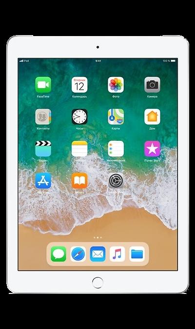 Планшет Apple iPad (2018) 32Gb Wi-Fi + Cellular Silver (серебристый)Планшеты<br>2G, 3G, 4G, Wi-Fi; ОС iOS; Дисплей сенсорный емкостный 16,7 млн цв. 9.7; Камера 8 Mpix, AF; MP3,  GPS / ГЛОНАСС; Вес 478 г.<br><br>Colour: Белый