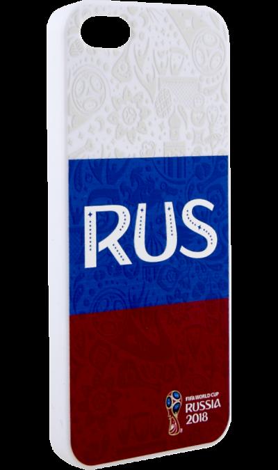Deppa Чехол-крышка Deppa FIFA Флаг России для Apple iPhone 5/5S/SE, полиуретан, цветной deppa fifa забивака 2 чехол для apple iphone 6 6s black