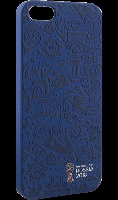 Deppa Чехол-крышка Deppa FIFA Рельеф для Apple iPhone 5/5S/SE, полиуретан, синий deppa fifa забивака 2 чехол для apple iphone 6 6s black