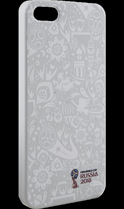 Deppa Чехол-крышка Deppa FIFA Рельеф для Apple iPhone 5/5S/SE, полиуретан, белый deppa fifa забивака 2 чехол для apple iphone 6 6s black