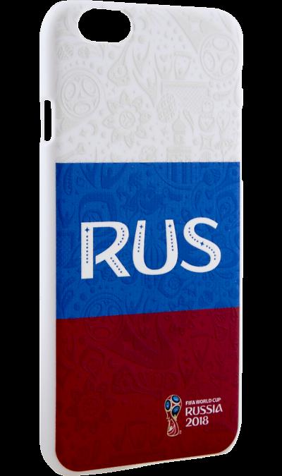 Deppa Чехол-крышка Deppa FIFA Флаг России для Apple iPhone 6/6S, полиуретан, цветной deppa fifa забивака 2 чехол для apple iphone 6 6s black