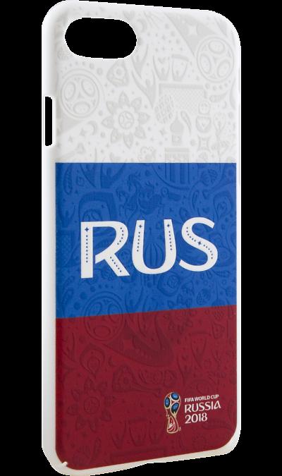 Deppa Чехол-крышка Deppa FIFA Флаг России для Apple iPhone 7/8, полиуретан, цветной deppa fifa забивака 2 чехол для apple iphone 6 6s black