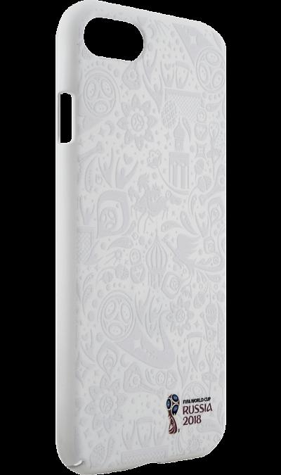 Deppa Чехол-крышка Deppa FIFA Рельеф для Apple iPhone 7/8, полиуретан, белый deppa fifa забивака 2 чехол для apple iphone 6 6s black