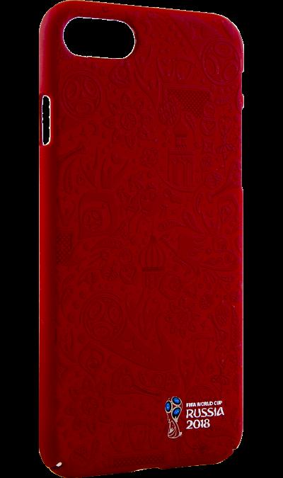 Deppa Чехол-крышка Deppa FIFA Рельеф для Apple iPhone 7/8, полиуретан, красный deppa fifa забивака 2 чехол для apple iphone 6 6s black