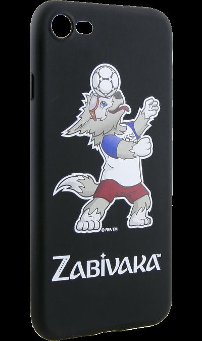 Deppa Чехол-крышка Deppa FIFA Забивака 1 для Apple iPhone 7/8, полиуретан, черный чехол клип кейс deppa fifa zabivaka