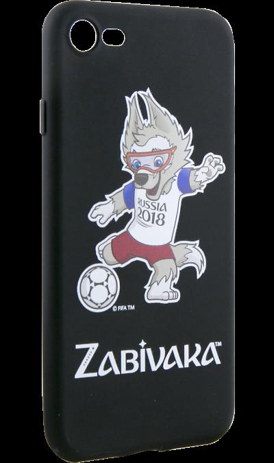 Deppa Чехол-крышка Deppa FIFA Забивака 2 для Apple iPhone 7/8, полиуретан, черный чехол клип кейс deppa fifa zabivaka