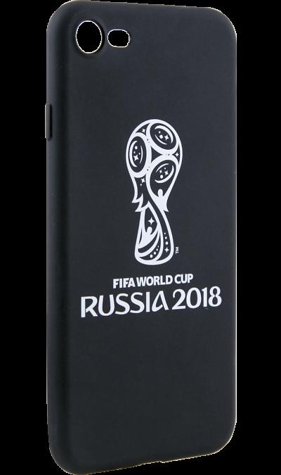 Deppa Чехол-крышка Deppa FIFA Эмблема для Apple iPhone 7/8, полиуретан, черный deppa fifa забивака 2 чехол для apple iphone 6 6s black