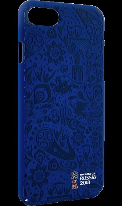 Deppa Чехол-крышка Deppa FIFA Рельеф для Apple iPhone 7/8, полиуретан, синий deppa fifa забивака 2 чехол для apple iphone 6 6s black