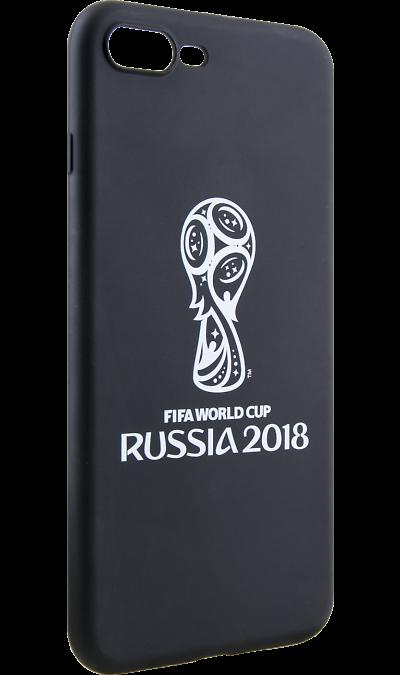 Deppa Чехол-крышка Deppa FIFA Эмблема для Apple iPhone 7 Plus/8 Plus, полиуретан, черный deppa fifa забивака 2 чехол для apple iphone 6 6s black
