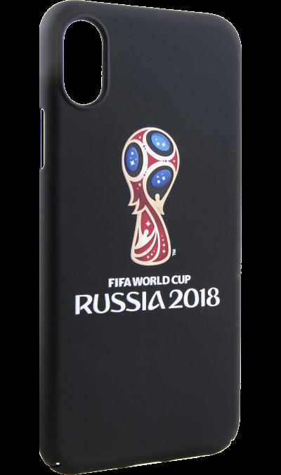 Deppa Чехол-крышка Deppa FIFA Эмблема для Apple iPhone X, полиуретан, цветной deppa fifa забивака 2 чехол для apple iphone 6 6s black