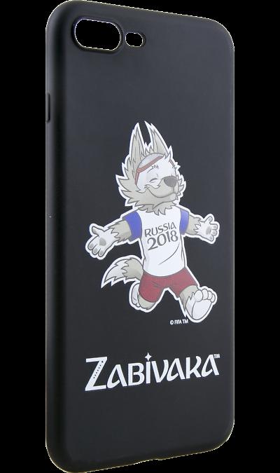 Deppa Чехол-крышка Deppa FIFA Забивака 4 для Apple iPhone 7 Plus/8 Plus, полиуретан, черный deppa fifa забивака 2 чехол для apple iphone 6 6s black