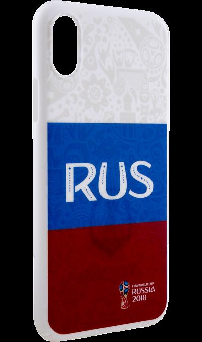 Deppa Чехол-крышка Deppa FIFA Флаг России для Apple iPhone X, полиуретан, цветной deppa fifa забивака 2 чехол для apple iphone 6 6s black