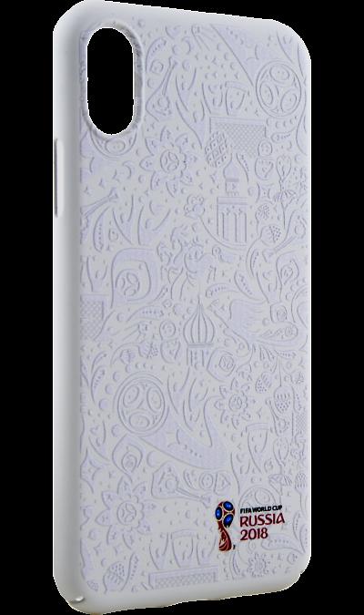 Deppa Чехол-крышка Deppa FIFA Рельеф для Apple iPhone X, полиуретан, белый deppa fifa забивака 2 чехол для apple iphone 6 6s black