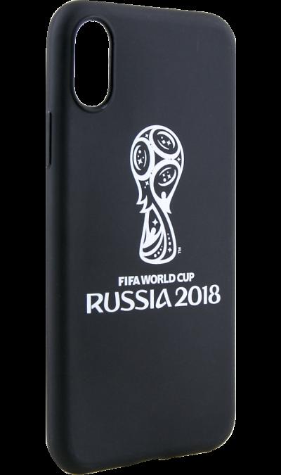 Deppa Чехол-крышка Deppa FIFA Эмблема для Apple iPhone X, полиуретан, черный deppa fifa забивака 2 чехол для apple iphone 6 6s black