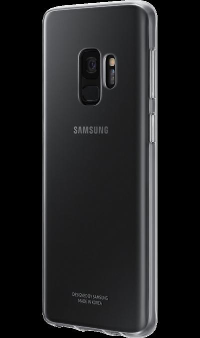 Samsung Чехол-крышка Samsung для Galaxy S9, полиуретан, прозрачный samsung чехол книжка samsung для galaxy s9 полиуретан черный