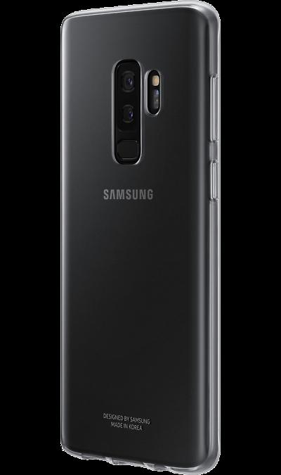 Samsung Чехол-крышка Samsung для Galaxy S9+, полиуретан, прозрачный samsung чехол книжка samsung для galaxy s9 полиуретан черный