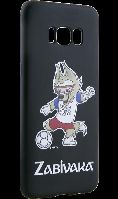 Deppa Чехол-крышка Deppa FIFA Забивака 2 для Samsung Galaxy S8, полиуретан, черный чехол клип кейс deppa fifa zabivaka
