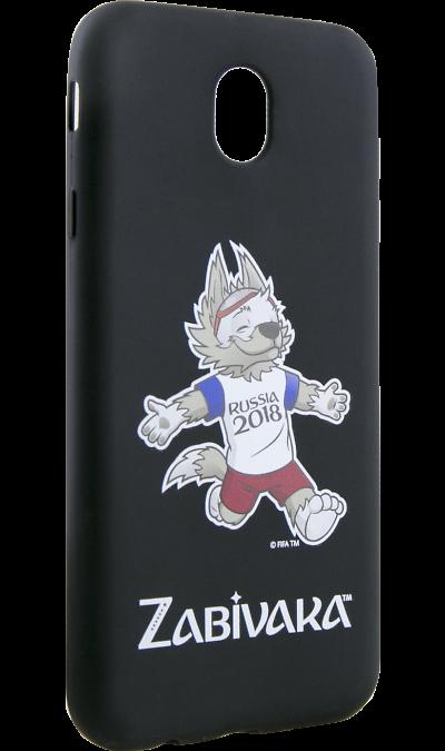 Deppa Чехол-крышка Deppa FIFA Забивака 4 для Samsung Galaxy J7 (2017), полиуретан, черный чехол для для мобильных телефонов rcd 4 samsung 4 for samsung galaxy note 4 iv