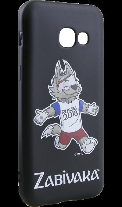 Deppa Чехол-крышка Deppa FIFA Забивака 4 для Samsung Galaxy A3 (2017), полиуретан, черный чехол для для мобильных телефонов rcd 4 samsung 4 for samsung galaxy note 4 iv