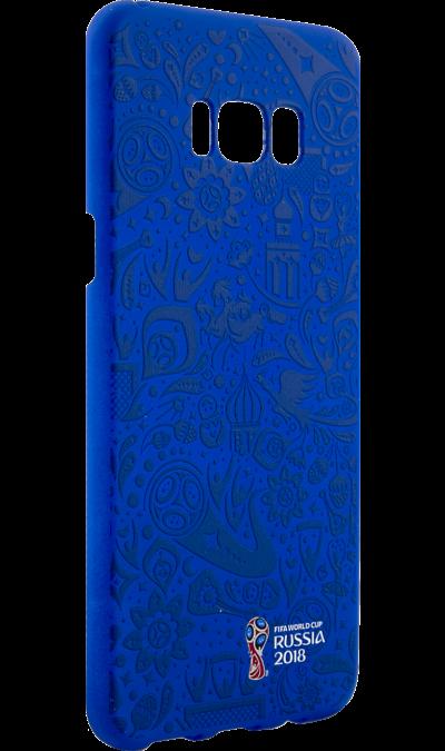 Deppa Чехол-крышка Deppa FIFA Рельеф для Samsung Galaxy S8+, полиуретан, синий чехол deppa art case и защитная пленка для samsung galaxy s6 патриот крым ваш