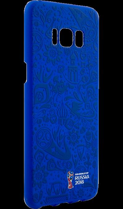 Deppa Чехол-крышка Deppa FIFA Рельеф для Samsung Galaxy S8, полиуретан, синий чехол deppa art case и защитная пленка для samsung galaxy s6 патриот крым ваш