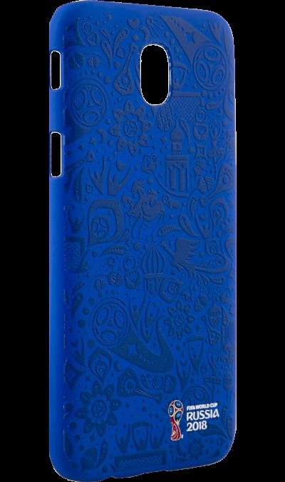 Deppa Чехол-крышка Deppa FIFA Рельеф для Samsung Galaxy J5 (2017), полиуретан, синий чехол deppa art case и защитная пленка для samsung galaxy s6 патриот крым ваш