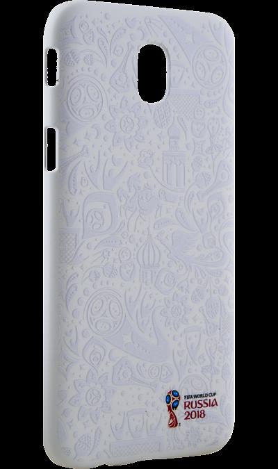 Deppa Чехол-крышка Deppa FIFA для Samsung Galaxy J7, полиуретан, белый чехол deppa art case и защитная пленка для samsung galaxy s6 патриот крым ваш