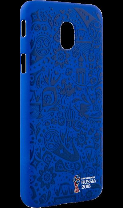 Deppa Чехол-крышка Deppa FIFA Рельеф для Samsung Galaxy J3, полиуретан, синий чехол deppa art case и защитная пленка для samsung galaxy s6 патриот крым ваш