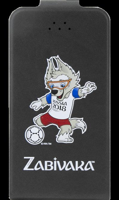 Deppa Чехол-книжка Deppa FIFA Забивака 1 универсальный 4.3-5.5'', кожзам, черный чехол клип кейс deppa fifa zabivaka