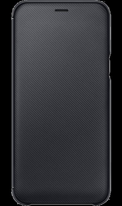 Чехол-книжка Samsung для Galaxy A6, полиуретан, черный