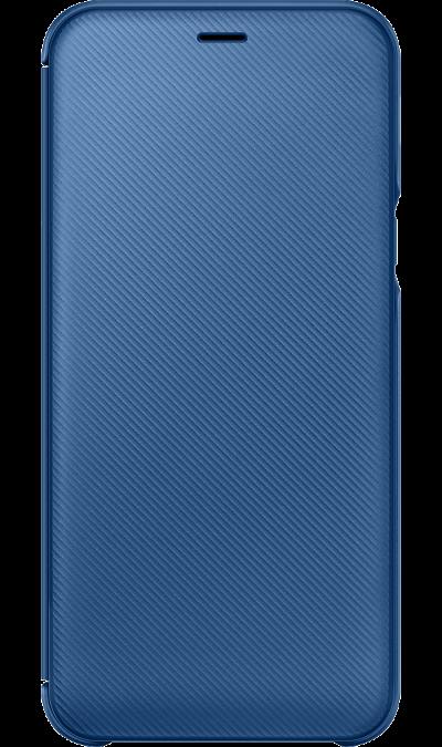 цена Samsung Чехол-книжка Samsung для Galaxy A6, полиуретан, синий