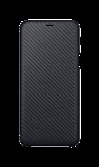 Чехол-книжка Samsung для Galaxy A6 Plus, полиуретан, черный фото