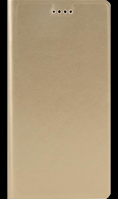 Code Чехол-книжка Code для Xiaomi Redmi 4X, кожзам, золотистый