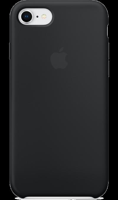 Apple Чехол-крышка Apple для Apple iPhone 7/8, силикон, чёрный аксессуар чехол innovation jeans для apple iphone 7 8 white 10774