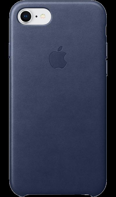 Apple Чехол-крышка Apple MQH82ZM для Apple iPhone 7/8, кожа, синий чехол крышка apple leather case для apple iphone 7 8 кожаный темно синий