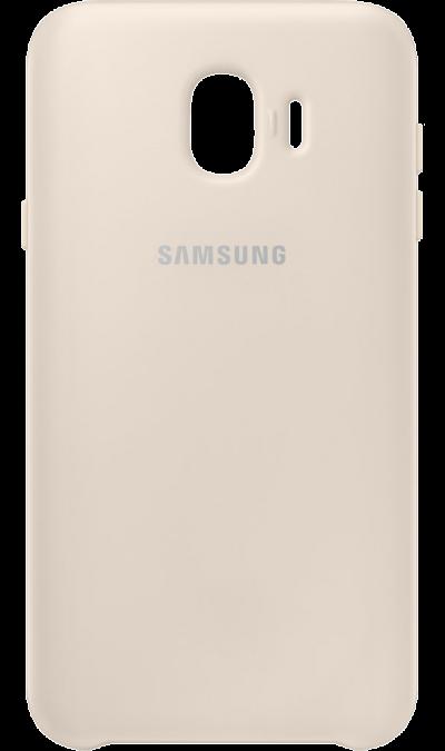 Чехол-крышка Samsung PJ400CFEGRU для Galaxy J4 (2018), полиуретан, золотистый