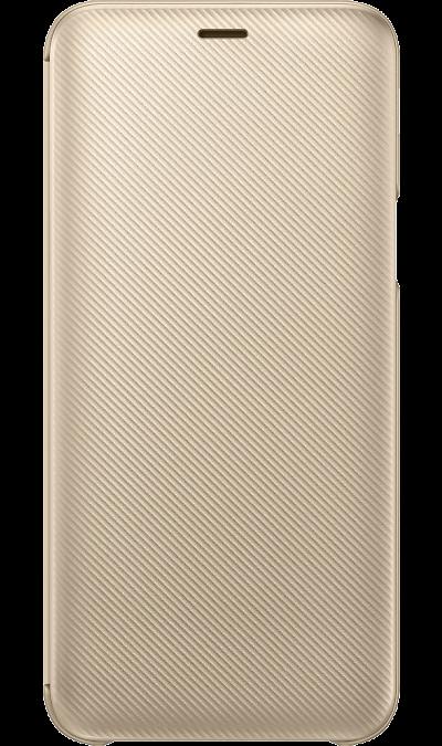 Чехол-книжка Samsung WJ600CFEGRU для Galaxy J6 (2018), полиуретан, золотистый фото