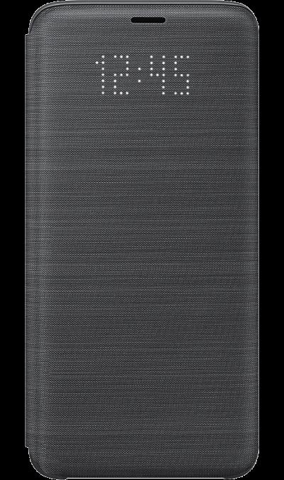 Samsung Чехол-книжка Samsung для Galaxy S9, полиуретан, черный samsung чехол книжка samsung для galaxy s9 полиуретан черный