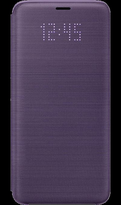 Samsung Чехол-книжка Samsung для Galaxy S9, полиуретан, фиолетовый samsung чехол книжка samsung для galaxy s9 полиуретан черный