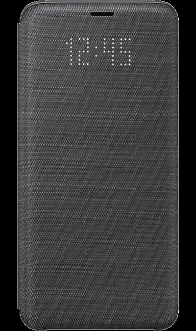 Samsung Чехол-книжка Samsung для Galaxy S9+, полиуретан, черный samsung чехол книжка samsung для galaxy s9 полиуретан черный