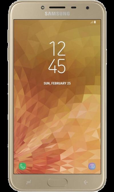 где купить Samsung Смартфон Samsung Galaxy J4 (2018) 32GB Gold (золотой) дешево