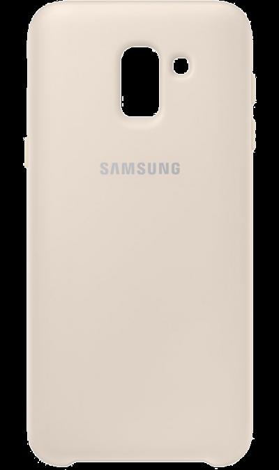 Чехол-крышка Samsung для Galaxy J6 (2018), полиуретан, золотистый фото
