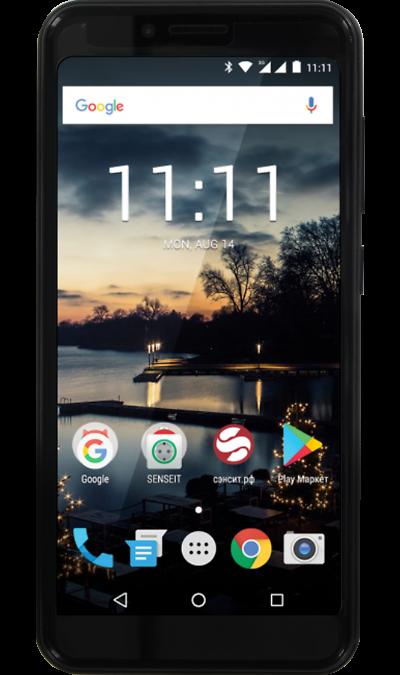 Senseit Смартфон SENSEIT C155 Black смартфон senseit t250 black