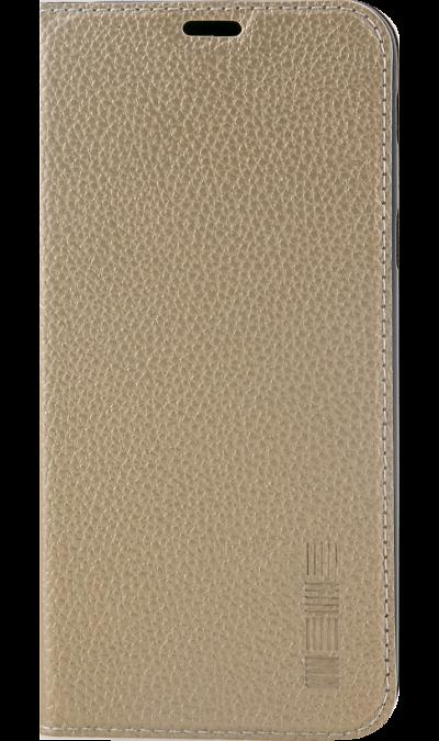Inter-Step Чехол-книжка Inter-Step для Samsung Galaxy A6, кожзам, золотистый защитная пленка для samsung galaxy s4 mini inter step is sf sgs3minmt 000b201 anti fingerprint